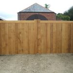 Automatic electric wooden gates