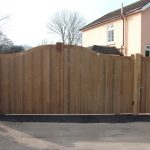Automatic electric residential wooden gates