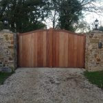 Wooden security fencing in Devon