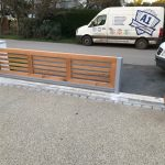 High tech automatic wooden gates