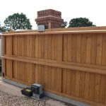 Automatic wooden gates in Devon
