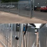 Commercial security gate installtion in Devon