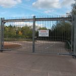 Big security fencing in Devon